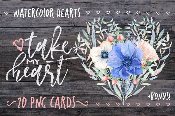 Watercolor Love Card