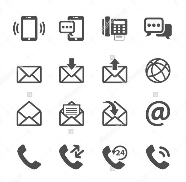 Web Email Icons