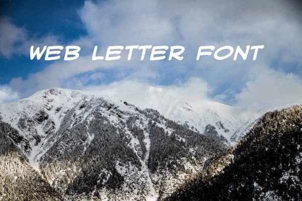 Web Letter Font