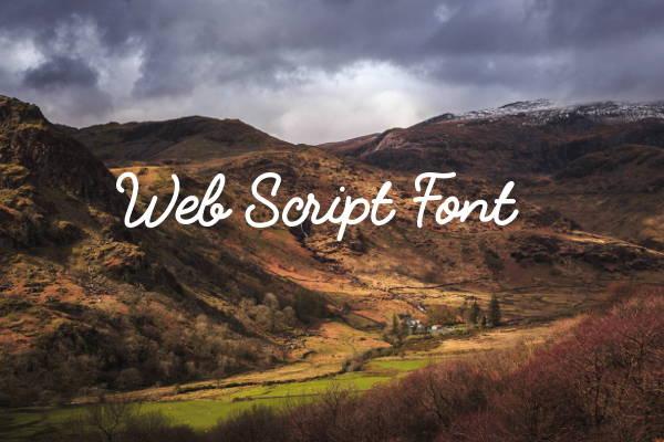 Web Script Font