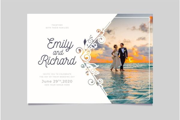 Wedding Photo Invitation Template