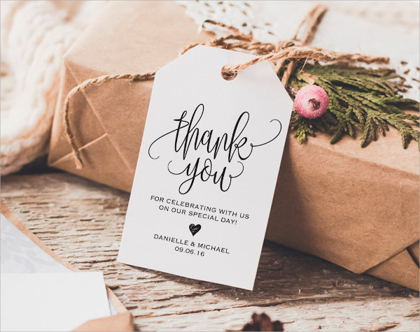 Wedding Thank You Tag Design