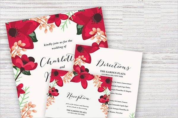 Wedding and Reception Invitation