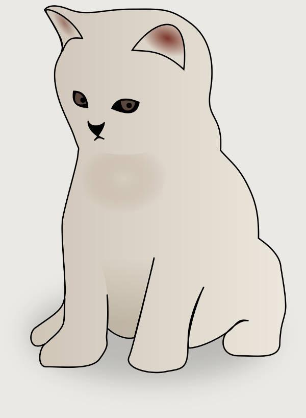 White Kitten Clipart