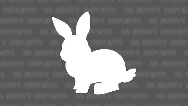 White Rabbit Silhouette