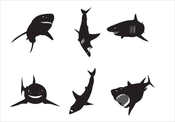 White Shark Silhouette