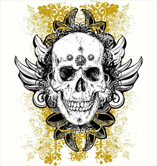 Wicked Skull Vector
