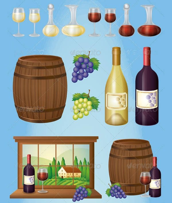 Wine Vector Graphic Design