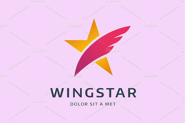 Wings With Star Logo