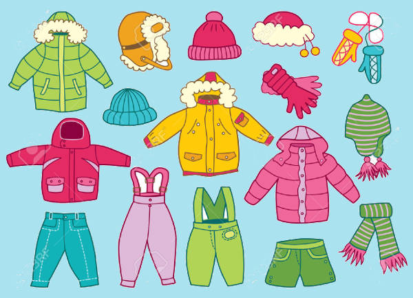 Winter Clothes Clipart