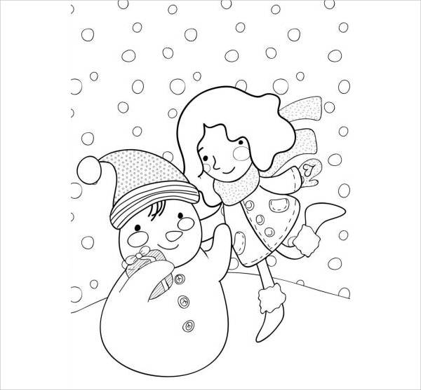 Winter Holiday Coloring Page