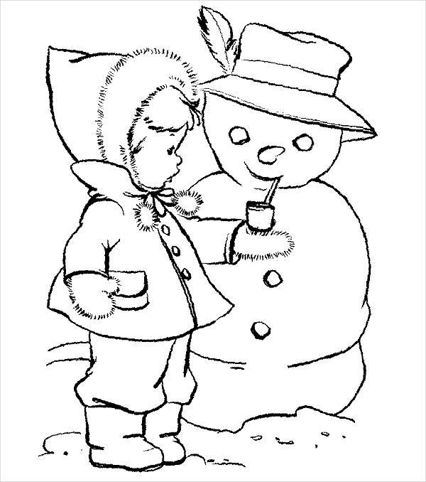 Winter Preschool Coloring Page