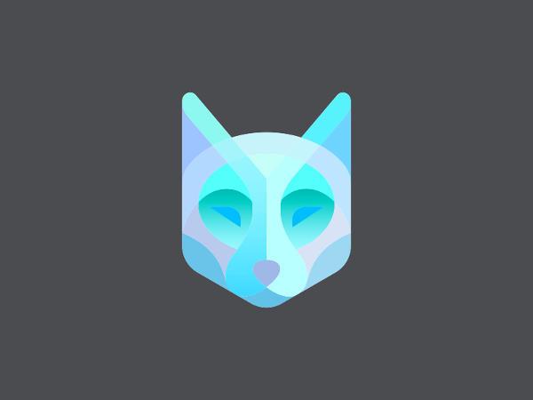 Wolf Polygonal Shaped Logo