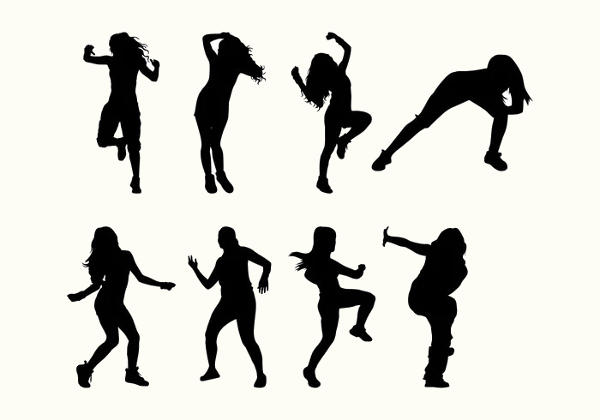 Zumba Dancer Silhouette