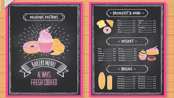 Free 21 Creative Chalkboard Menu Design Templates In Psd Ai