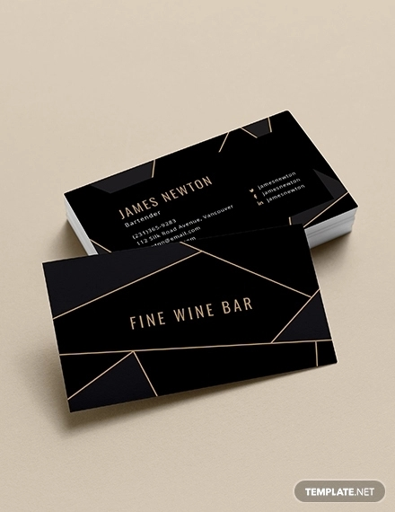 creative barttender business card