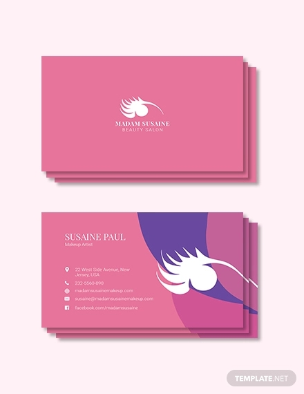 creative makeup artist business card