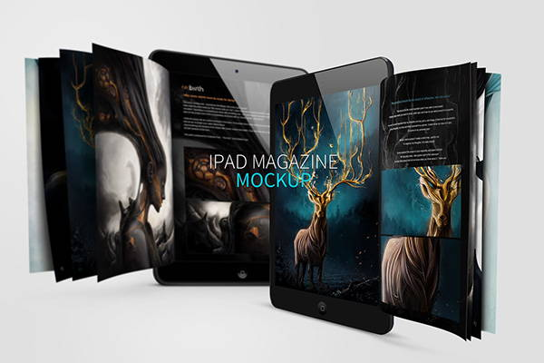 iPad Magazine Mockup Design