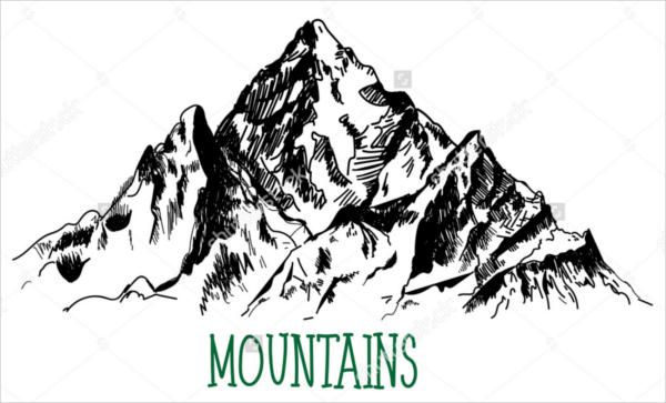 mountains. vector drawing