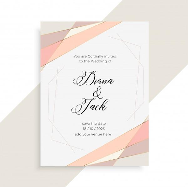 Elegant Wedding Invitation InDesign