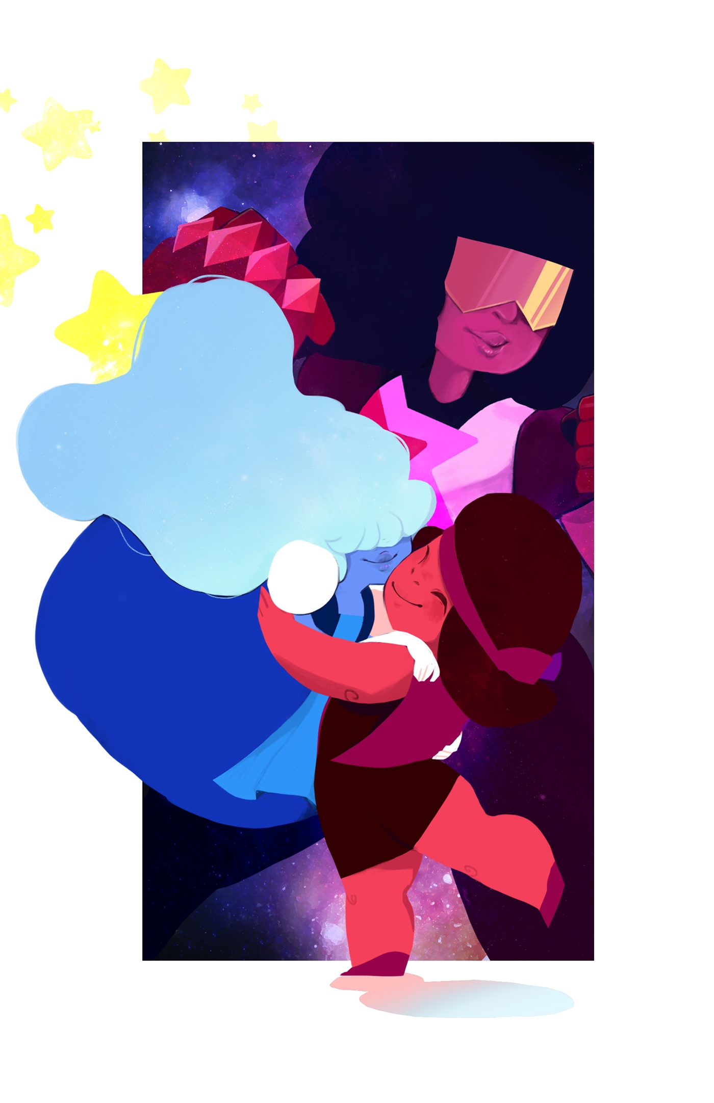 Ruby and Sapphire to Garnet Character Design