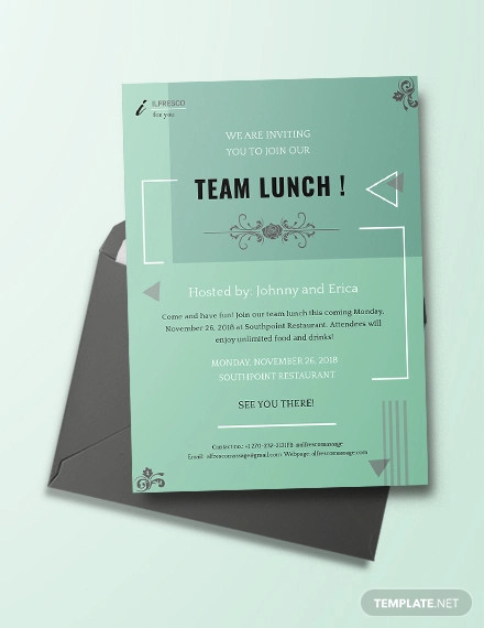 FREE 13+ Formal Lunch Invitation Designs in Vector EPS | AI ...