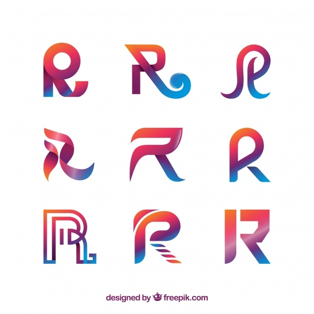 variations of R Lettermark Logo