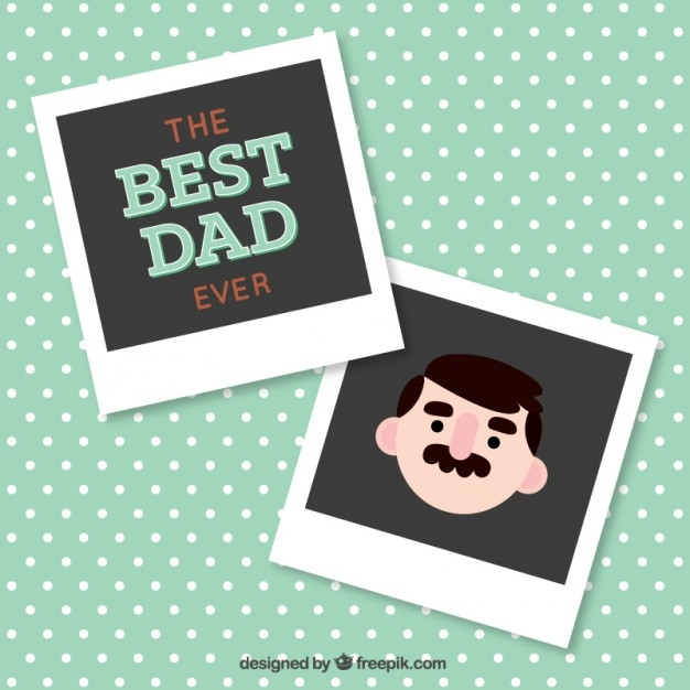 The Best Dad Ever Vector Polaroid Frame
