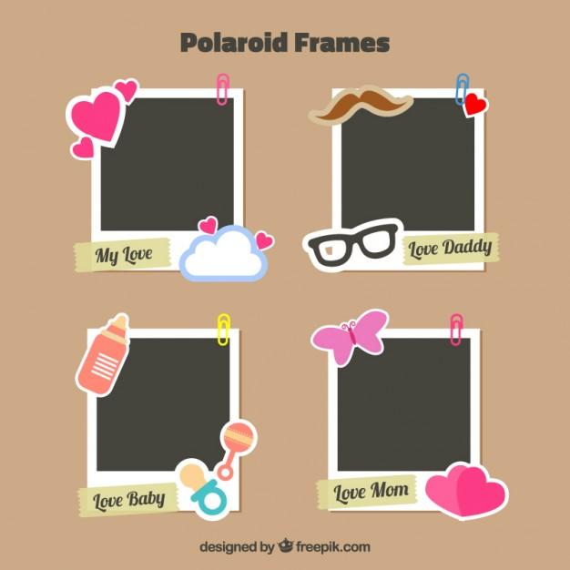 decorated polaroid frames