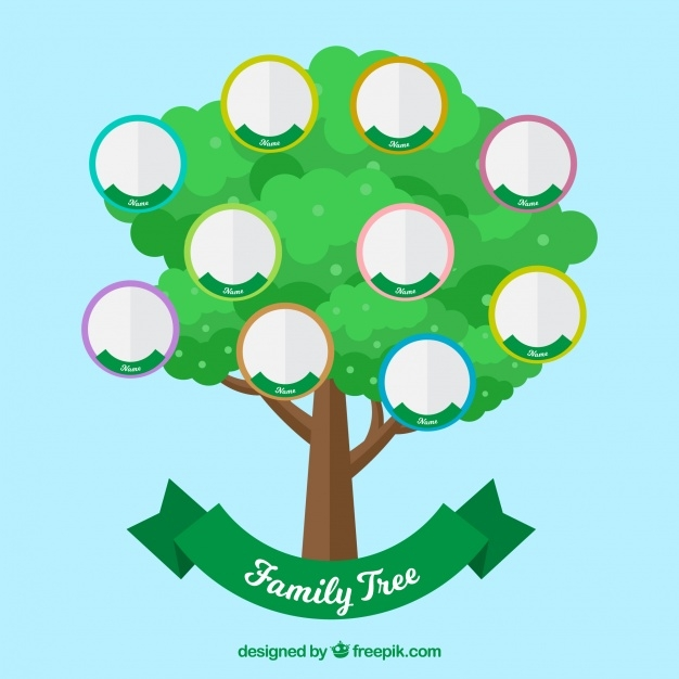 Simple and Colorful Family Tree