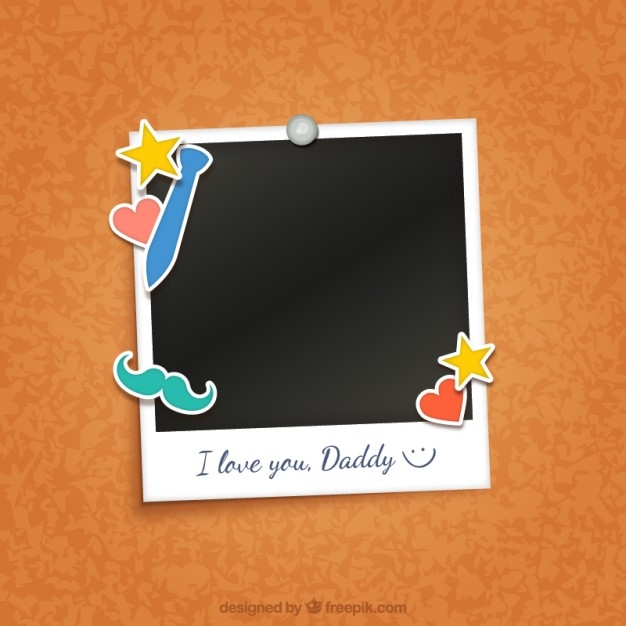 I Love My Daddy Polaroid Photo Frame