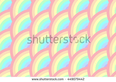 stock vector half circle rotate rainbow pastel seamless pattern 4490794421