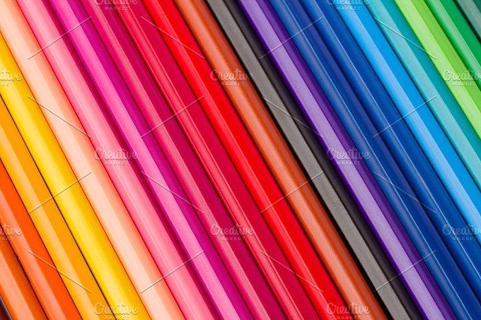 Color Pencils in Rainbow