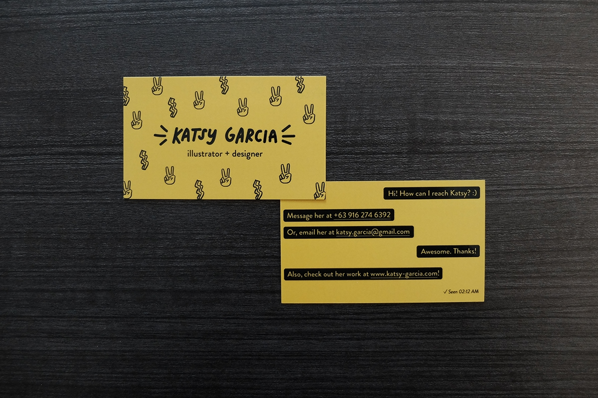 Katsy Garcia Business Card