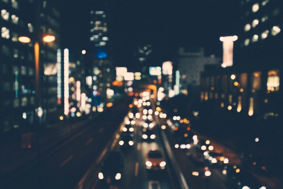 City Streets Bokeh Background