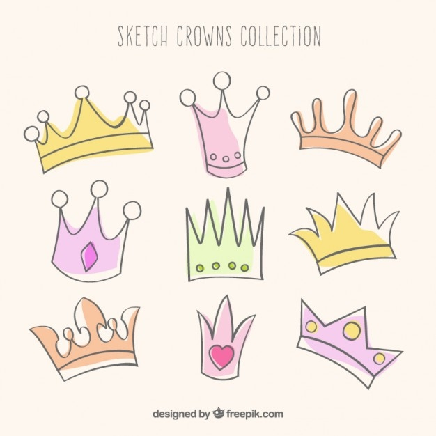 colorful and sketchy crown design4