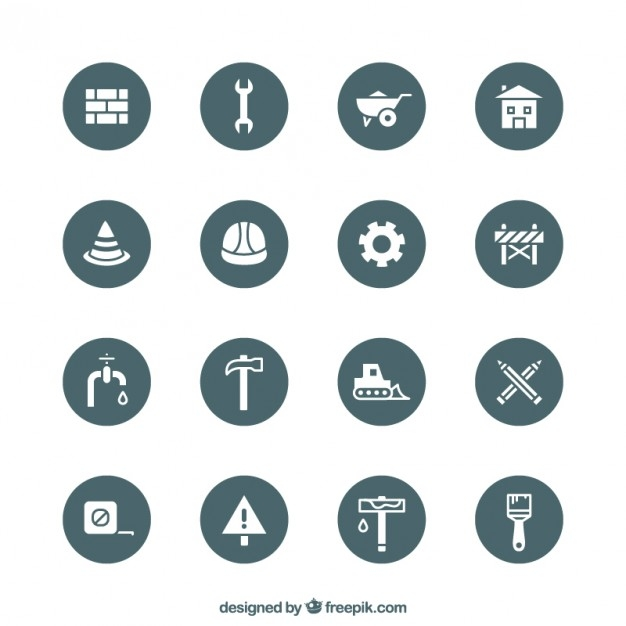 construction tools equipment icons