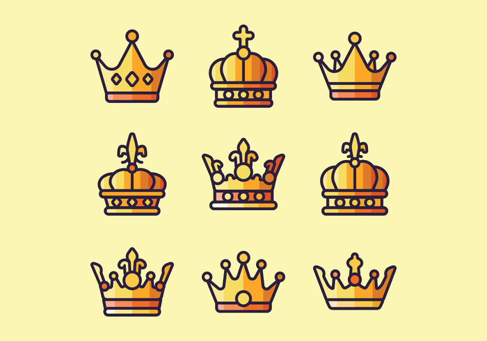 Golden Royal Crowns