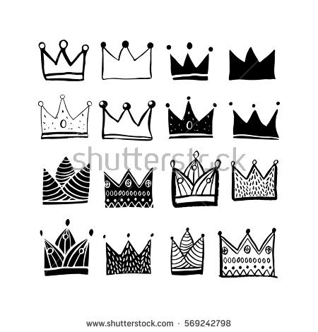 Hand-drawn Organic Crown Shapes