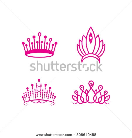 Outlined Pageant Crown Set