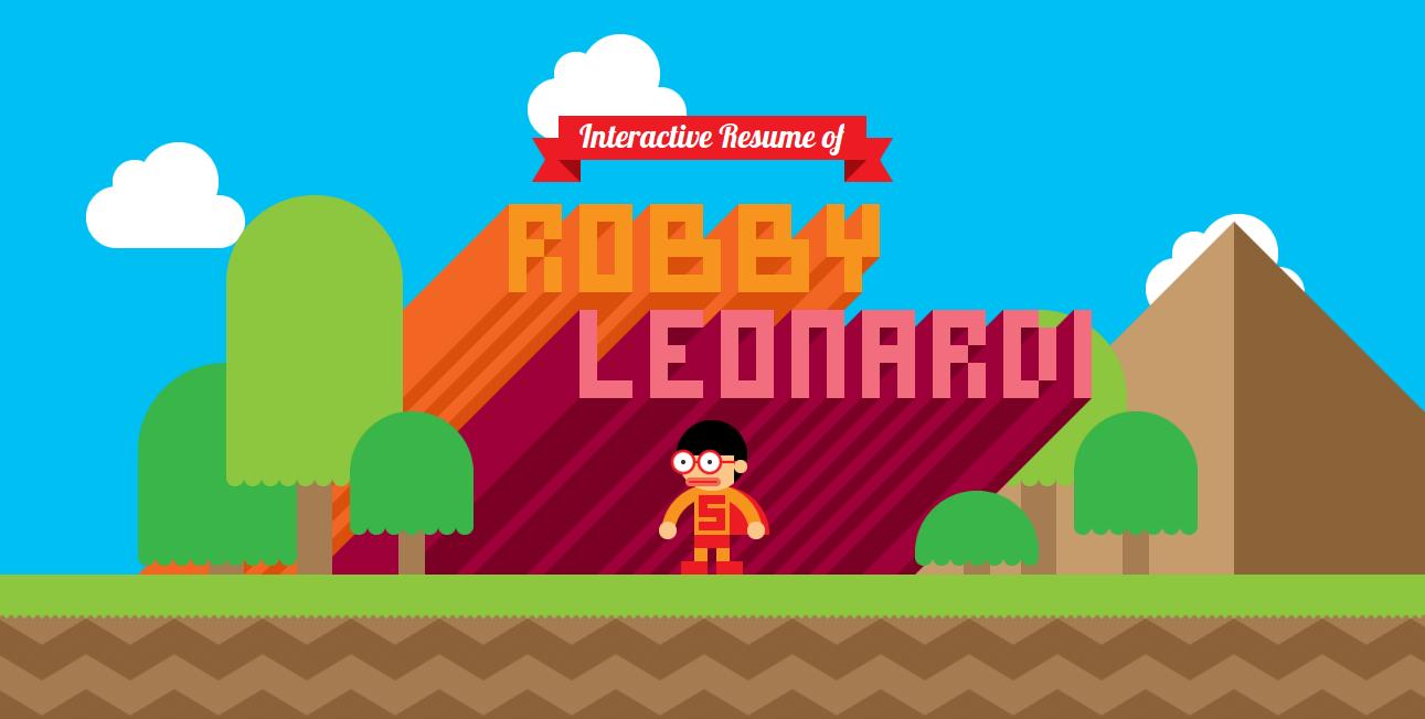 Robby Leonardi Interactive Resume