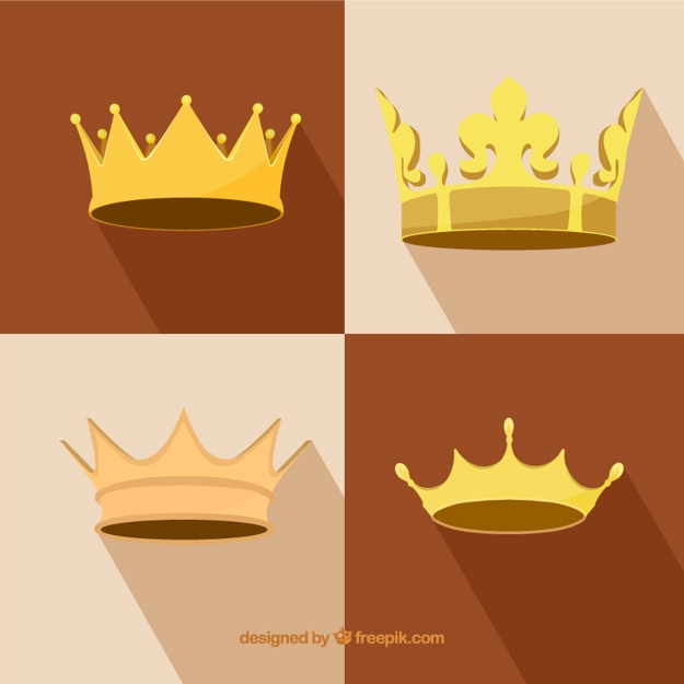 shiny realistic flat crown design