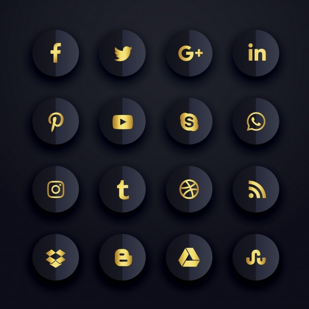 sleek simple premium social media icons
