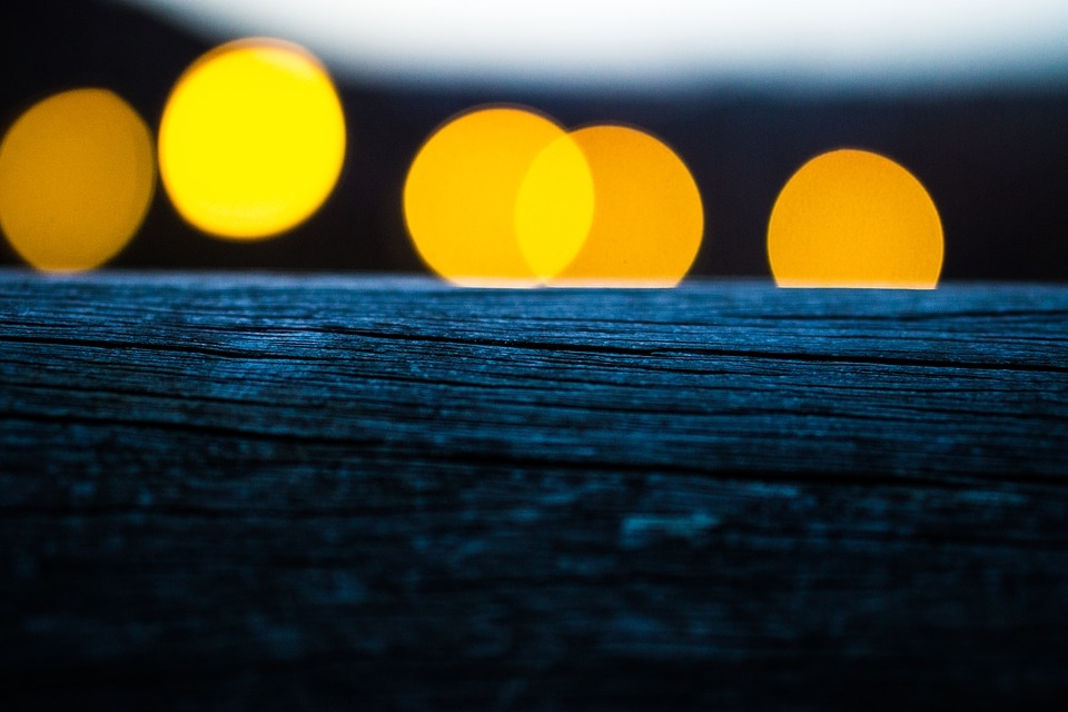 Wood Bokeh Background