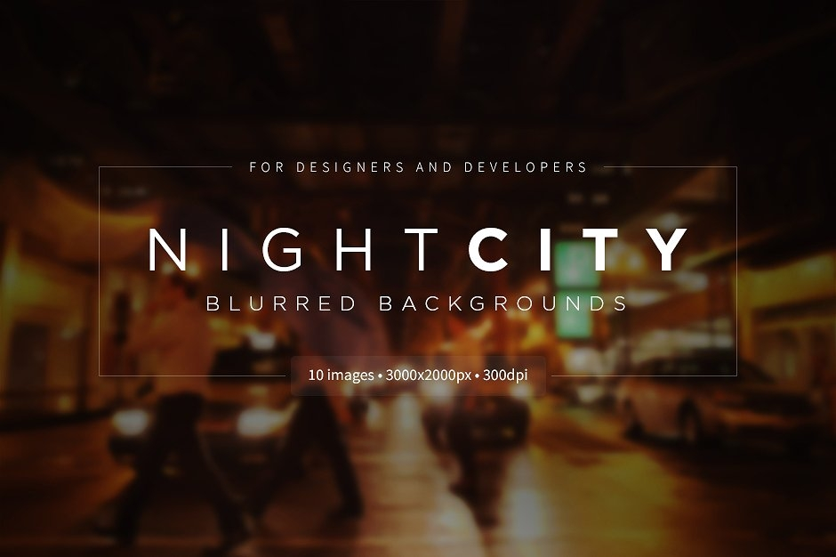 Night City Blurred Backgrounds
