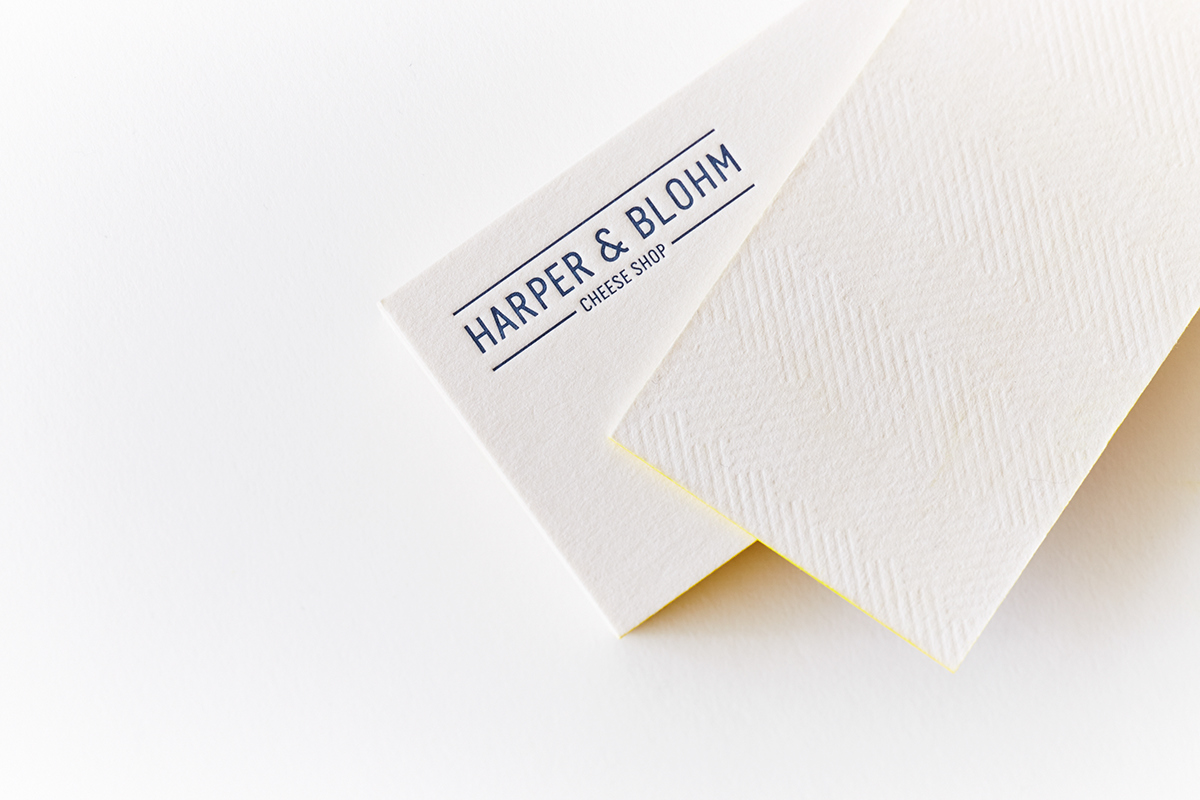 Harper & Blohm Cheese Shop Business Card