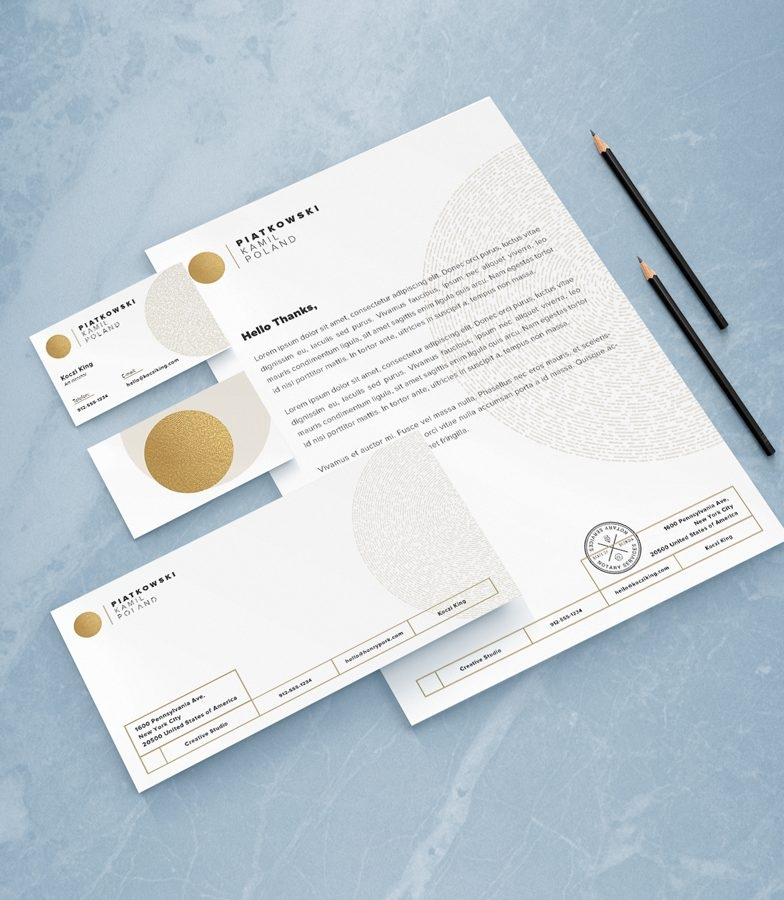 Free Stationery Mock-up Set