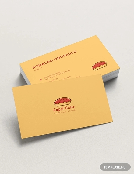 cupcake business card templates