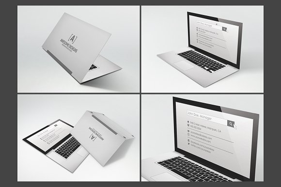 Laptop Business Card Design