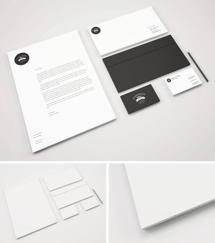 Retro & Minimal Stationary PSD Mockup